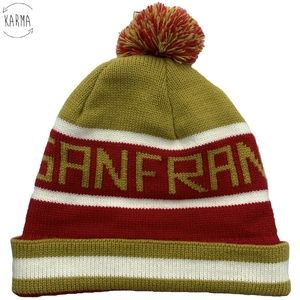 Other - San Francisco Knit Cuffed Pom Beanie Hat DI12